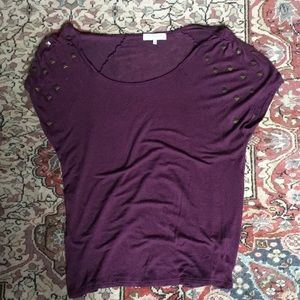Relaxed fit studded tee